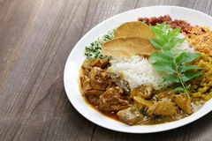 Sri lankan rice and curry dish. Rice and curry, sri lankan cuisine Stock Photography