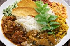 Sri lankan rice and curry dish. Rice and curry, sri lankan cuisine stock image