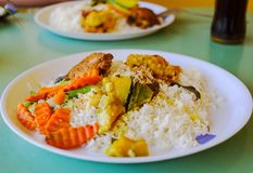 Sri lankan rice and curry dish. Sri lankan rice and curry Royalty Free Stock Image