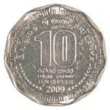 10 Sri Lankan Rupienmünze Stockfoto