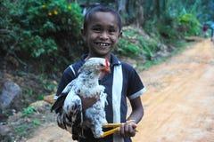 Sri Lankan rural boy Stock Images