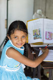 Sri Lankan schoolgirl Stock Photo