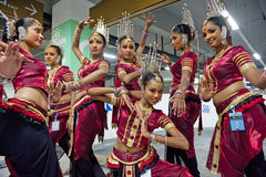Sri Lankan traditional dancers Stock Photography