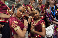 Sri Lankan traditional dancers Royalty Free Stock Photography