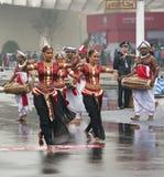 Sri Lankan traditional dancers Stock Photography