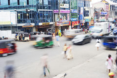 Sri Lankan traffic Royalty Free Stock Photo