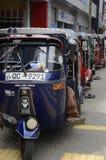Sri Lankan Tuk Tuks Royalty-vrije Stock Fotografie