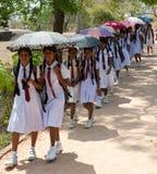 Sri- Lankaschulekategorie auf einer Reise Lizenzfreie Stockbilder
