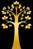 Sri Maha Bodhi Tree On Black ( Thai Art ) Royalty Free Stock Image