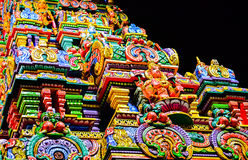 Sri Maha Mariamman Temple, detail Royalty Free Stock Image