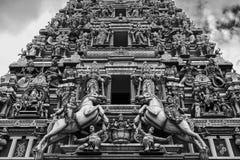Sri Mahamariamman tempel i Kuala Lumpur fotografering för bildbyråer