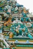 Sri Mahamariamman tempelKuala Lumpur detaljer arkivbilder