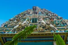 Sri Mahamariamman tempelKuala Lumpur nedersta sikt royaltyfri fotografi