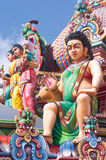 Sri Mariamman Hindu Temple, Chinatown - Singapore Royalty Free Stock Images