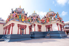 Sri Mariamman Hindu Temple, Chinatown - Singapore Royalty Free Stock Photos