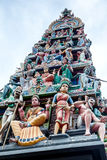 Sri Mariamman Hindu Temple in Singapore Chinatown Stock Photos