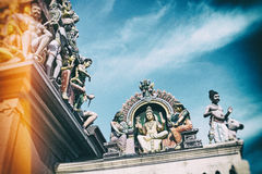 Sri Mariamman Hindu Temple in Singapore. Stock Images