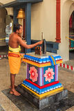 Sri Mariamman hindu temple worshiper Stock Photo