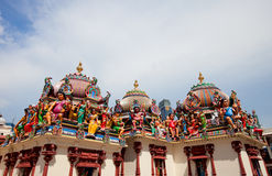 Sri Mariamman Tempel in Singapur stockbilder
