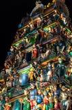Sri Mariamman Temple Singapore at night Stock Images