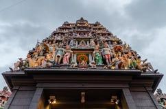 Sri Mariamman Temple at Singapore`s Chinatown. stock image