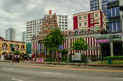 Hindu temple in Singapore royalty free stock photos