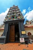 Sri Mariamman Temple in Singapore. It is Singapore`s oldest Hindu temple stock images