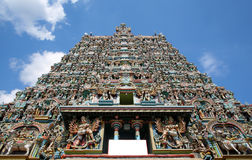 Sri meenakshi temple, Madurai, India. Ornate facade of Hindu sri meenakshi temple, madurai, india Royalty Free Stock Image