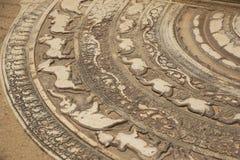 sri moonstone lanka anuradhapura στοκ εικόνες