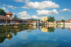 Sri Padmanabhaswamy寺庙在特里凡德琅喀拉拉印度 免版税图库摄影