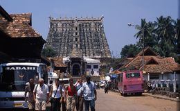 Sri Padmanabhaswamy寺庙,特里凡得琅,喀拉拉,印度 免版税库存照片