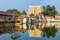 Sri Padmanabhaswamy temple in Trivandrum Kerala India. Thiruvananthapuram, India - Padmanabhaswamy temple was built in the Dravidian style and principal deity Royalty Free Stock Photo