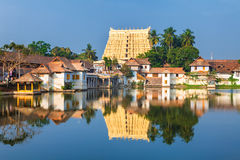 Sri Padmanabhaswamy temple in Trivandrum Kerala India. Thiruvananthapuram, India - Padmanabhaswamy temple was built in the Dravidian style and principal deity Stock Photography