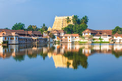 Sri Padmanabhaswamy temple in Trivandrum Kerala India. Thiruvananthapuram, India - Padmanabhaswamy temple was built in the Dravidian style and principal deity Stock Photo