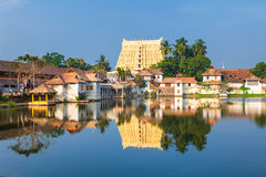 Sri Padmanabhaswamy temple in Trivandrum Kerala India. Thiruvananthapuram, India - Padmanabhaswamy temple was built in the Dravidian style and principal deity Royalty Free Stock Images