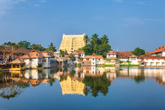 Sri Padmanabhaswamy temple in Trivandrum Kerala India. Thiruvananthapuram, India - Padmanabhaswamy temple was built in the Dravidian style and principal deity Royalty Free Stock Photos