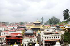 Sri Pashupatinath Temple located on the banks of Bagmati River Stock Images