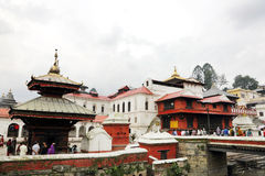 Sri Pashupatinath Temple located on the banks of Bagmati River Royalty Free Stock Photography