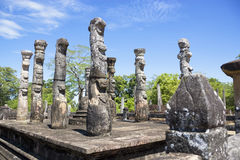 sri polonnaruwa nissankalata mandapa lanka Стоковые Фотографии RF