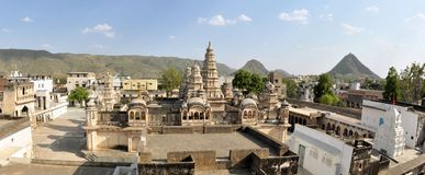 Sri Raghunath Hindu temple, Pushkar, India Royalty Free Stock Images