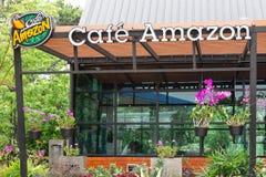 Sri Sa Ket, Ταϊλάνδη - Augus, 2018: Λογότυπο του Αμαζονίου καφέδων σε Augus 13 στοκ εικόνα με δικαίωμα ελεύθερης χρήσης