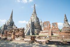 Sri sanphet tempel van Watphra in Ayutthaya Thailand Stock Afbeelding