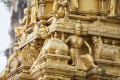 Sri Subramaniar Temple Exterior Closeup Royalty Free Stock Photo