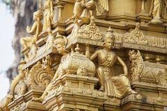 Sri Subramaniar Temple Exterior Closeup Royalty Free Stock Photo