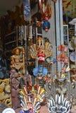Sri traditionele Lankan handcrafted goederenwinkel Stock Afbeelding