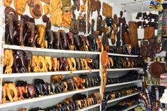 Sri traditionele Lankan handcrafted goederenwinkel Stock Foto's