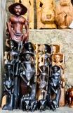 Sri traditionele Lankan handcrafted goederenwinkel Stock Foto