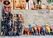 Sri traditionele Lankan handcrafted goederenwinkel Royalty-vrije Stock Fotografie