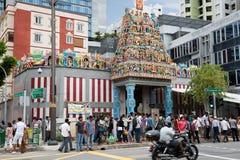Sri Veerama Kaliamman Temple in Little India, Singapore Stock Image
