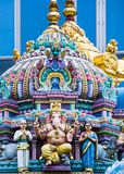 Sri Veeramakaliamman temple. SINGAPORE - FEB 24 : Statues in Sri Veeramakaliamman temple in Little India, Singapore on February 24 2018 It is one of the oldest Royalty Free Stock Images